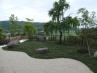 和風庭園  川のイメージの白砂利敷きとタマリュウ