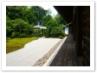 左手に 鶴亀の庭