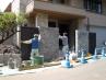 石をモチーフにした高級外構工事  施工現場3
