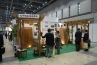 輸入木材の販売を行う弘平物産のブース。取り扱いは主にインドネシアのウリン、セランガンバツ、イペなどのいわゆる耐久性の非常に高いハードウッド。デッキ材としての販売はもちろん、フェンスやパーゴラへの加工も。